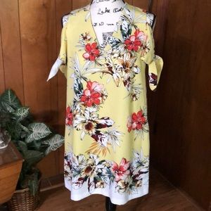 Zara NWOT Tropical Mini Dress